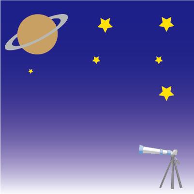 すばるスターウォッチングクラブ「望遠鏡で土星を見てみよう!」画像