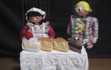 クリオネ(マリオネット)「森のケーキやさん」「楽しいおさんぽ」